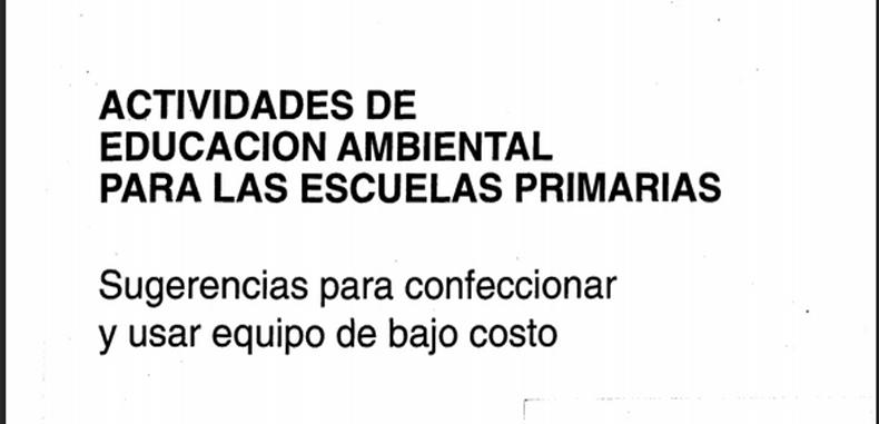 Actividades de Educacion Ambiental para las Escuelas Primarias (Descarga Gratuita)