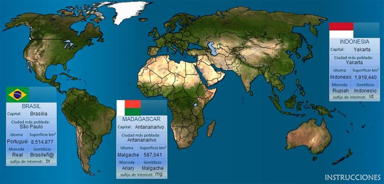 Mapa Mundo Educativo para estudiantes (Actualizado 2015)