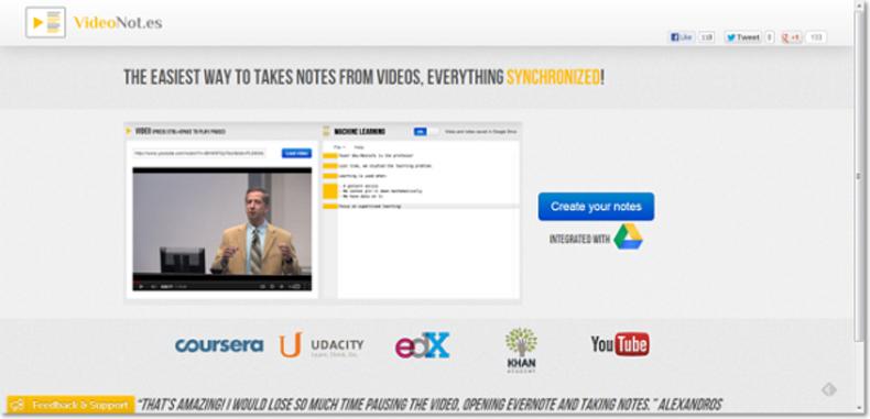 VideoNotes, excelente herramienta para tomar notas mientras observas videos