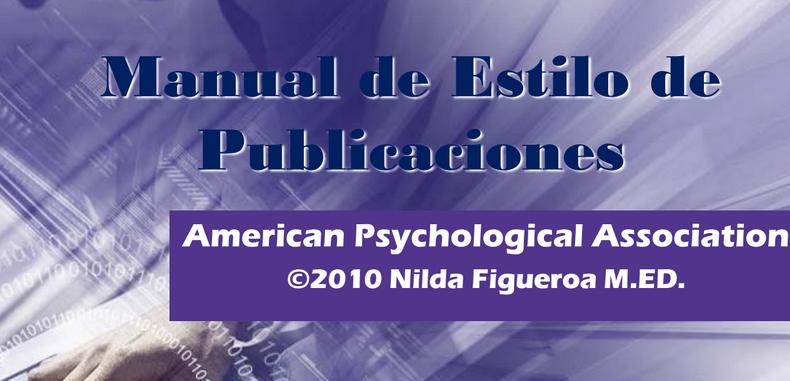 Manual de Estilo de Publicaciones APA 6 edición (Descarga Gratuita)