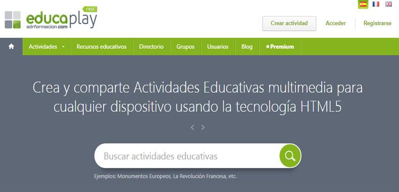 Crea tus actividades educativas multimedia con Educaplay