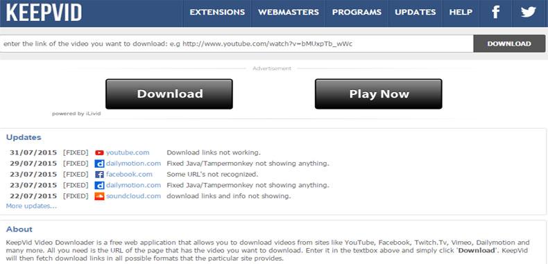 Descarga gratis tutoriales educativos de YouTube con Keepvid