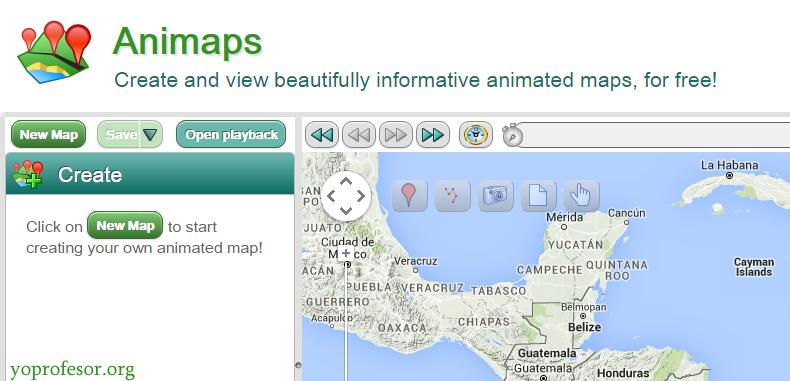 Animaps – La extensión de My Maps útil para el aula