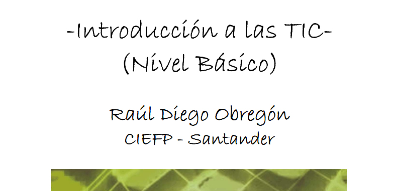 Introduccion a las TIC – manual basico CIEFP