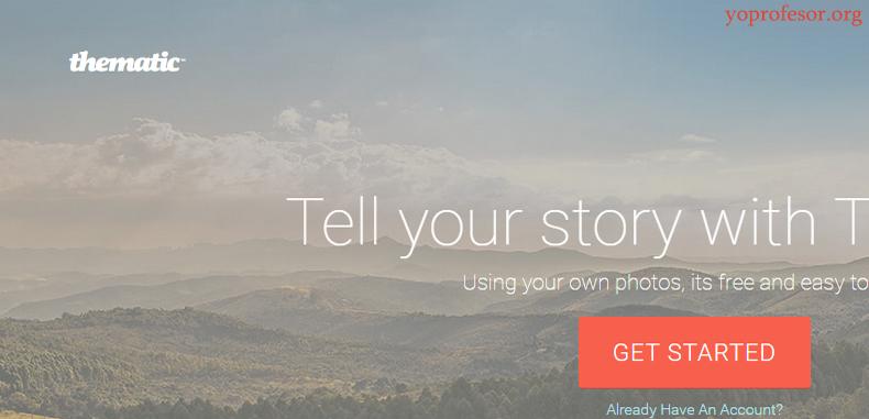 Thematic, comparte historias con imágenes