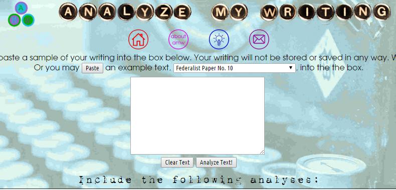 Analyze My Writing, ayuda perfecta al momento de redactar