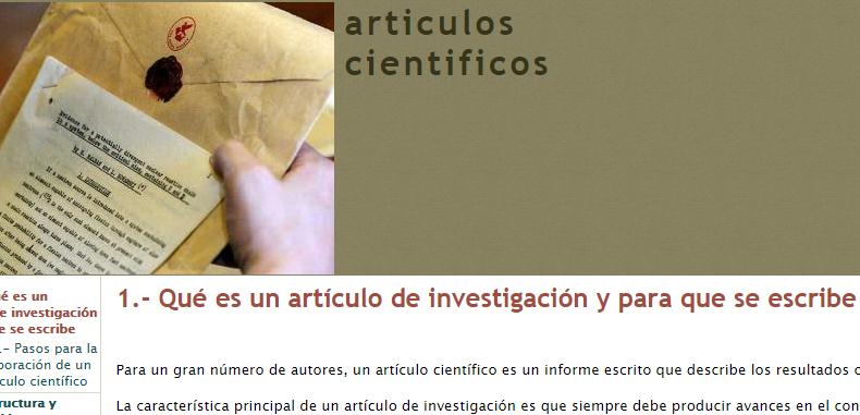 Pasos para la creación de artículos científicos