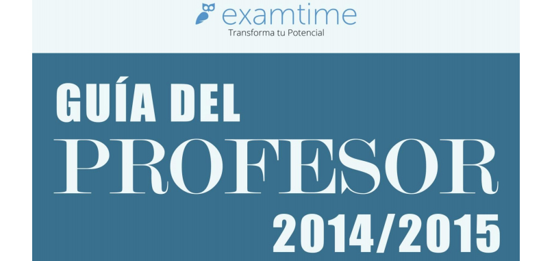 Nueva guia del profesor Examtime 2014/2015