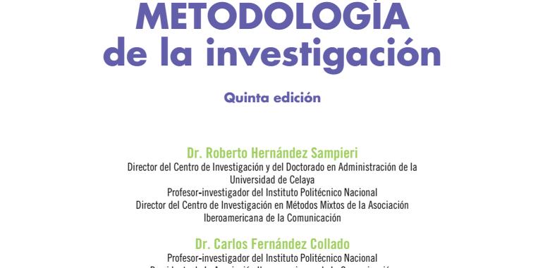 Metodología de la investigación, 5a. edicion por Hernández Sampieri (Descarga Gratuita)