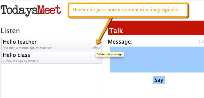 TodaysMeet: un complemento muy util para nuestras clases