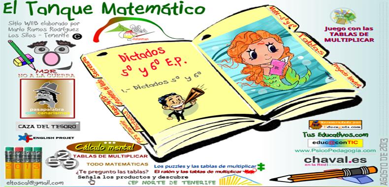"""Portal """"El Tanque Matemático""""  para estudiantes"""