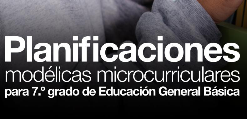 Planificaciones modélicas microcurriculares para 7 grado de Educación General Básica (en PDF-Docentes Ecuador)