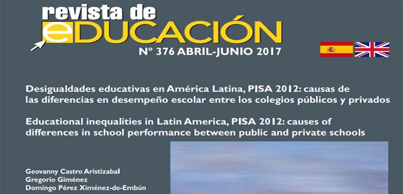 Desigualdades educativas en América Latina, PISA 2012: causas de las diferencias en desempeño escolar entre los colegios públicos y privados – en PDF