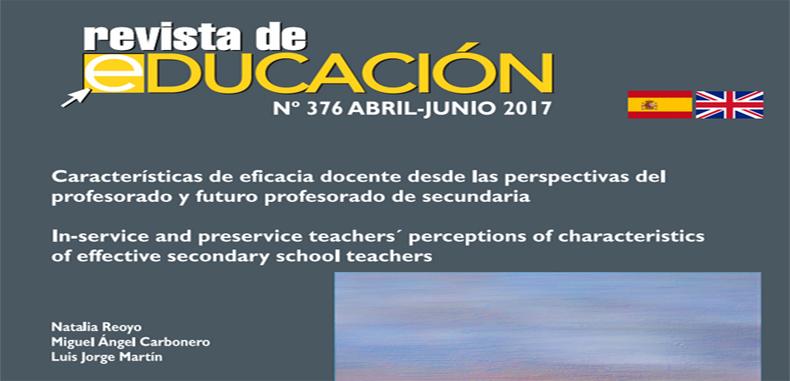 Características de eficacia docente desde las perspectivas del profesorado y futuro profesorado de secundaria – en PDF