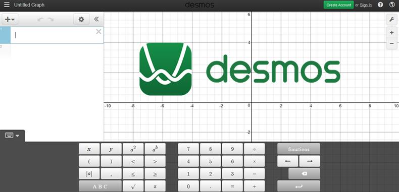 Desmos una plataforma  beta para la geometría
