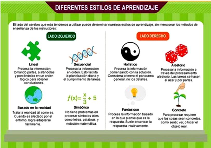diferentes estilos de aprendizaje