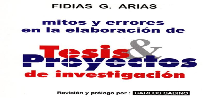 Mitos y errores en la elaboración de tesis y proyectos de investigación Libro en PDF