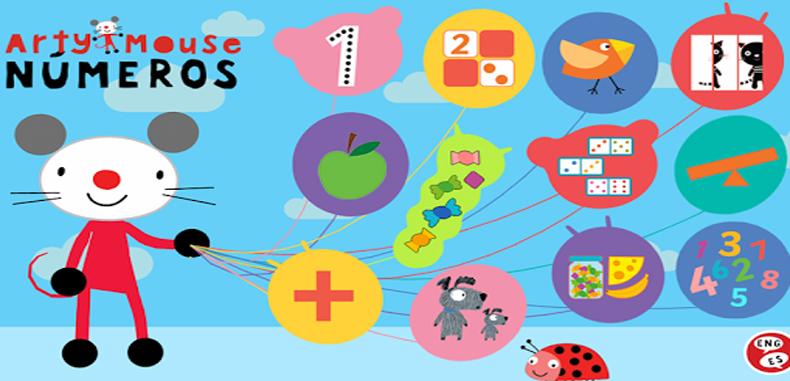 Arty Mouse Números, La app más creativa para aprender los números y estimular la pre-escritura