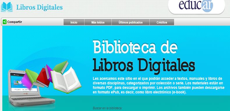 Libros digitales para docentes