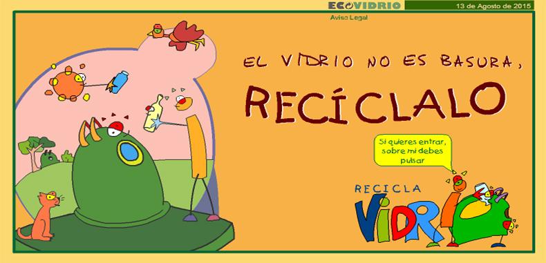 Enseña a reciclar el vidrio en reciclavidrio.com