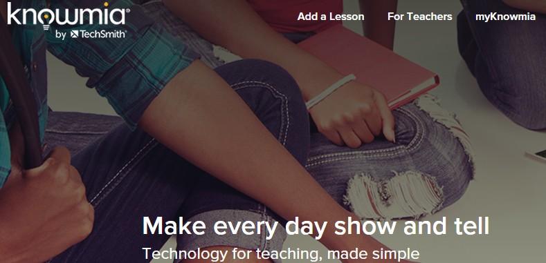 Knowmia, para compartir y crear lecciones de vídeo en iPad y vía web