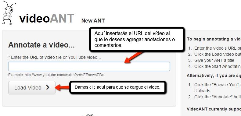 VideoANT, comenta tus vídeos fácilmente