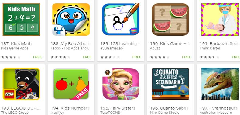 540 juegos educativos gratuitos Android para los más pequeños