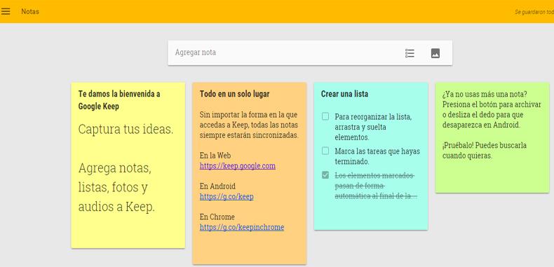 Google Keep, tu bloc de notas en la nube