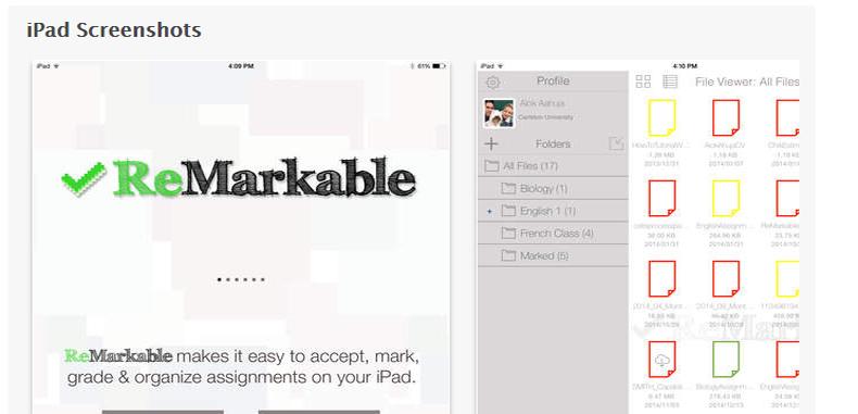 ReMarkable: Califica los trabajos de tus estudiantes por medio del teléfono o tablet.