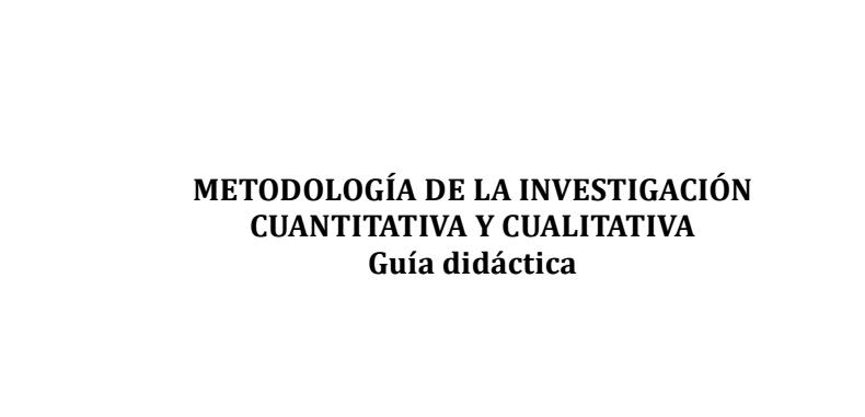 Metodologia de la Investigacion Cuantitativa y Cualitativa en PDF