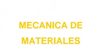 La Mecánica de Materiales, es una ciencia sobre los métodos de cálculo a la resistencia, la rigidez y la estabilidad de los elementos estructurales. Se entiende por resistencia a la capacidad de oponerse a la rotura, rigidez a la capacidad de oponerse a la deformación y estabilidad a la capacidad de mantener su condición original de equilibrio.