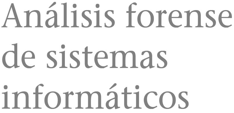 Análisis forense de sistemas informáticos en PDF