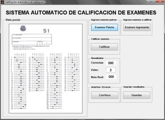 Sistema de califacion automatica de Examenes