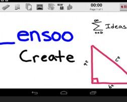 El día de hoy, les presentamos una aplicación gratuita, llamada Lensoo Create que se utiliza para crear videos de pizarra en su teléfono o Tablet. La pizarra está estructurada en páginas y en cada página podremos incorporar anotaciones manuales, imágenes que tengamos en nuestra galería de imágenes, figuras predeterminadas (triángulos, cuadrados, flechas...) y texto.  La aplicación está disponible en una versión de Android y en una versión de iOS (solo iPad)