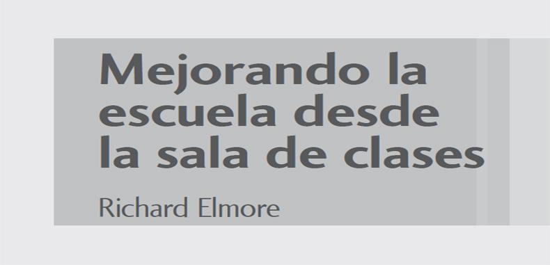 MEJORANDO LA ESCUELA DESDE LA SALA DE CLASES. PDF