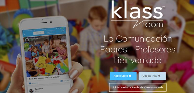 Klassroom, una app educativa que reinventa la comunicación entre Padres y Profesores.