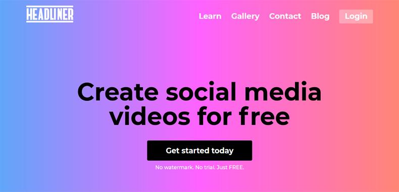 ¿Sabías que con la app Headliner, puedes crear videos para las redes sociales de manera fácil y rápida?