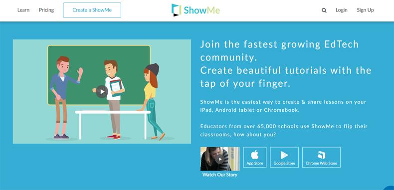 Crea y comparte clases en forma de videos como una pizarra digital con ShowMe.