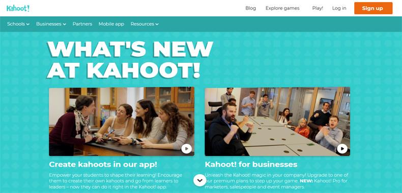 KAHOOT! Una plataforma recreativa y entretenida dirigida para profesores y estudiantes.
