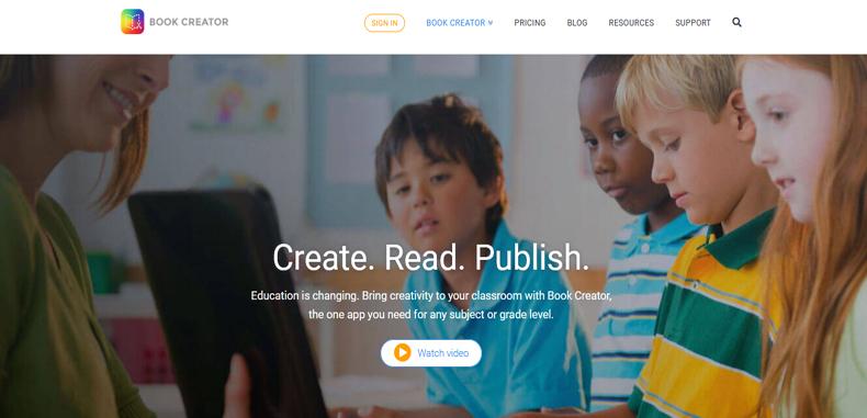 Lleva la creatividad al aula de clases con Book Creator, una herramienta para crear libros digitales.