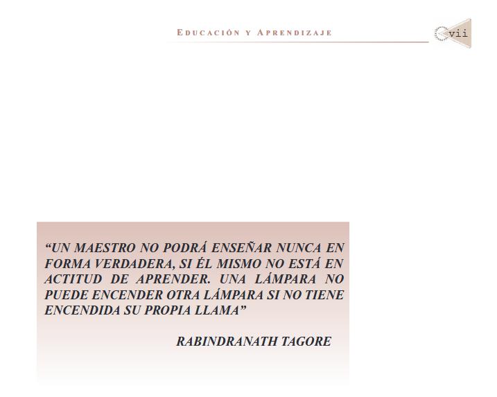 Educación y Aprendizaje. PDF.