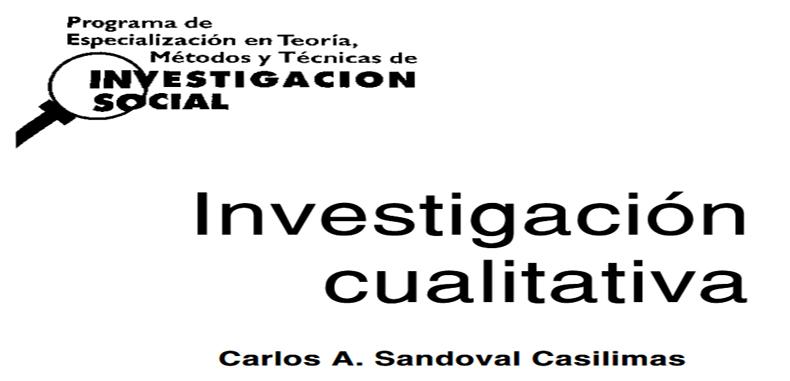 Programa de especialización en Teoría, Métodos y Técnicas de Investigación Social: Investigación Cualitativa en PDF
