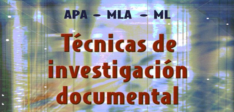 Técnicas de Investigación Documental por Yolanda Jurado Rojas en PDF.