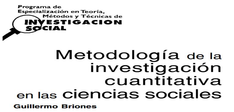 MÓDULO 3.- Metodología de la investigación cuantitativa en las ciencias sociales en PDF.