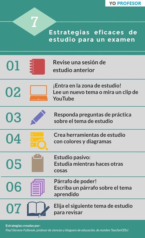 7 estrategias eficaces de estudio para examen