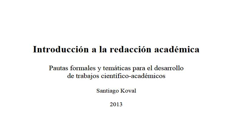 Introducción a la Redacción Académica en PDF.