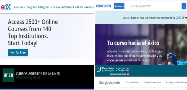 5 plataformas con cursos gratuitos en linea para docentes y estudiantes