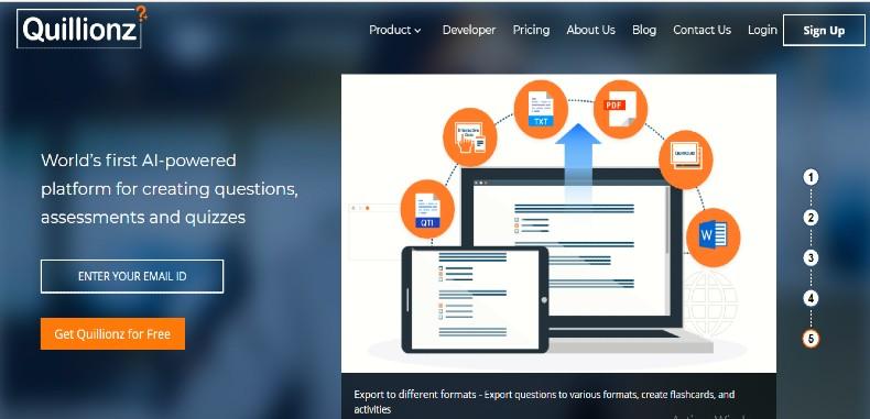 Quillionz, herramienta para crear preguntas de prueba y debate generadas a partir de documentos.