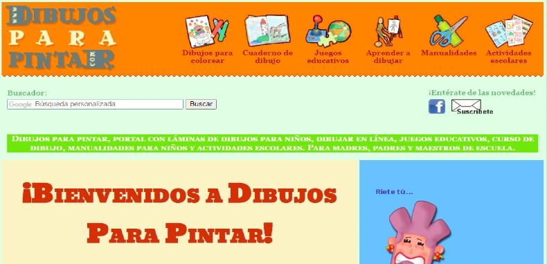 Dibujos para pintar, una plataforma interactiva para niños y jóvenes.
