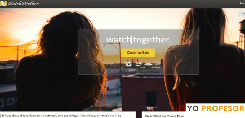 Watch2Gether, una herramienta que permite ver vídeos sincronizados de forma online y en vivo.